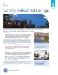 warmly welcomed savings - GE Lighting