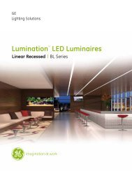 Lumination™ LED Luminaires - GE Lighting