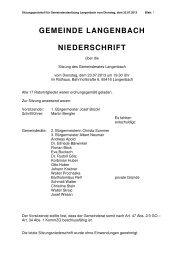 Gemeinderatssitzung vom 23.07.2013 - Langenbach