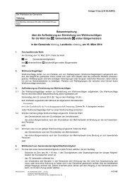 Bekanntmachung über die Aufforderung zur Einreichung ... - Mehring