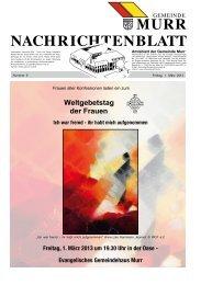 Nachrichtenblatt Nr. 9 vom 1. März 2013 - Gemeinde Murr