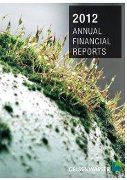 Annual report 2012 - Gelsenwasser AG