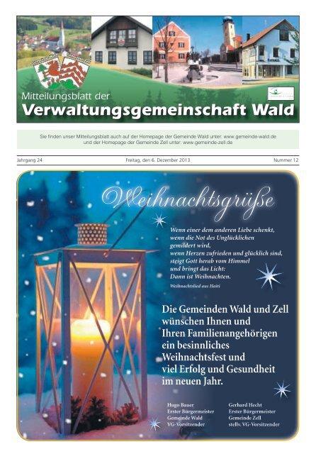 Verwaltungsgemeinschaft Wald Mitteilungsblatt der - Gemeinde WALD