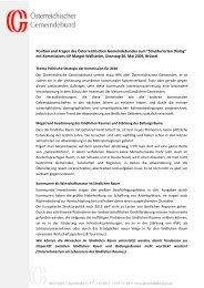 Position und Fragen des Österreichischen Gemeindebundes zum ...