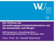 Präsentation zum Vortrag von Dr. Harald Eberhard