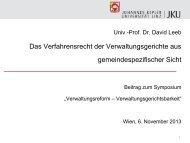 Präsentation zum Vortrag von Dr. David Leeb