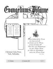 15. Dezember - Gemeinde Gottes