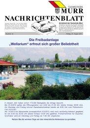 Nachrichtenblatt Nr. 34 vom 23. August 2013 - Gemeinde Murr