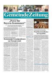 """""""Power für Bayerns Kommunen!"""" - Bayerische Gemeindezeitung"""