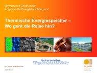 Energiespeichertechnologien: Möglichkeiten und Grenzen