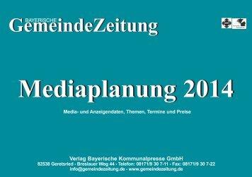 GZ-Mediadaten 2014 - Bayerische Gemeindezeitung