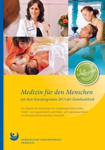 Kursprogramm 2013 - Gemeinschaftskrankenhaus Herdecke