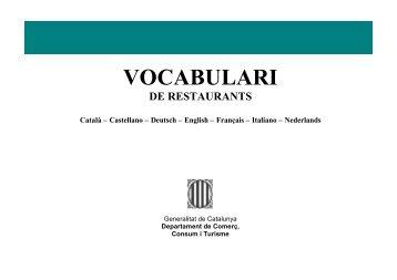 VOCABULARI - Generalitat de Catalunya