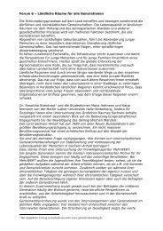 Protokoll Forum 6 - Susanne Besch - Dialog der Generationen