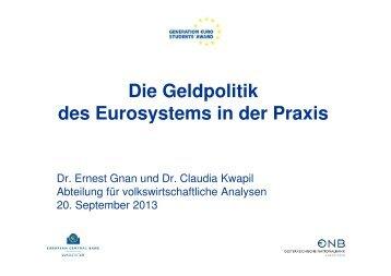 Die Geldpolitik des Eurosystems in der Praxis - Generation Euro ...