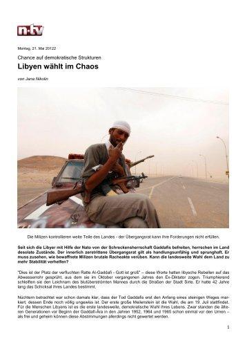 Libyen vor den Wahlen - Johannes Gutenberg-Universität Mainz