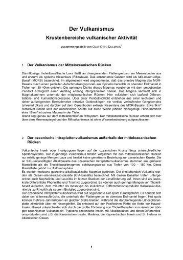 Der Vulkanismus - Geodienst.de