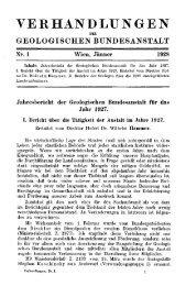 1927 - Geologische Bundesanstalt