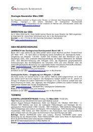 Newsletter 03/2009 - Geologische Bundesanstalt