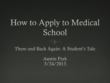 How to Apply to Medical School - George Fox University