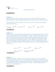 Carbonate Dissolution -1 - Department of Geosciences