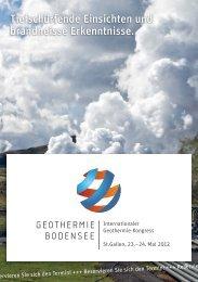 Tiefschürfende Einsichten und brandheisse ... - Geothermie
