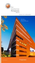 Programm des DGK 2013 - Bundesverband Geothermie