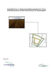 Umweltbericht zur 1. Änderung des ... - Stadt Geretsried