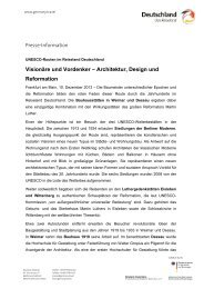 Visionäre und Vordenker – Architektur, Design und ... - Germany