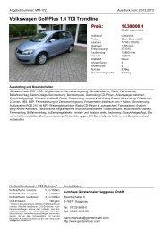 Volkswagen Golf VI Variant 1.6 TDI DSG Blue Motion - Autohaus ...