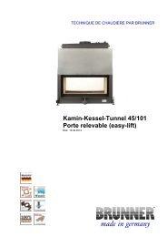 Kamin-Kessel-Tunnel 45/101 Porte relevable (easy-lift ... - Brunner