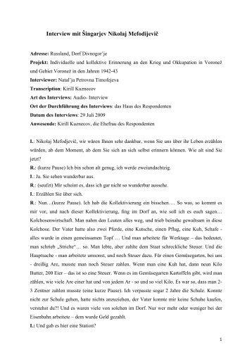 Interview mit Šingarjev Nikolaj Mefodijevič - Geschichtswerkstatt ...