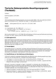 Tierische Nebenprodukte-Beseitigungsgesetz (TierNebG)