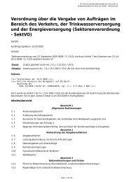 Verordnung über die Vergabe von Aufträgen im Bereich des ...