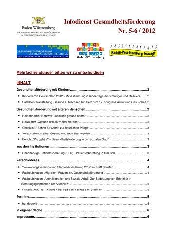 Infodienst Gesundheitsförderung Nr. 05-06/ 2012 (PDF; 382 KB)
