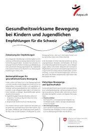 Gesundheitswirksame Bewegung bei Kindern und Jugendlichen