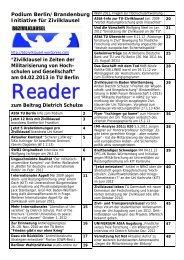 Reader zum Podium ( pdf | 2166,61 KB) - GEW-Berlin