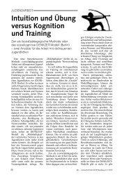 Intuition und Übung versus Kognition und Training