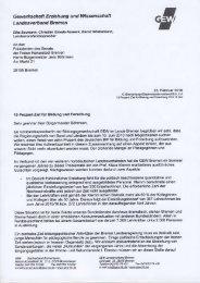 Gewerkschaft Eniehung und Wissens ehaft ... - GEW Bremen