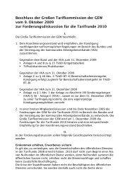 Beschluss der Großen Tarikkommission der GEW