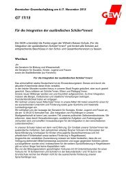 GT 17/13 Für die Integration der ausländischen ... - GEW Bremen