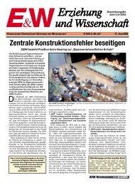 Zentrale Konstruktionsfehler beseitigen - GEW Niedersachsen