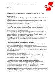 GT 10/13 Tätigkeitsbericht der ... - GEW Bremen