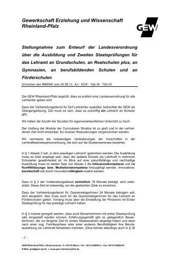 2011-09-30_LVO zweite Staatspruefung Lehraemter.pdf - GEW
