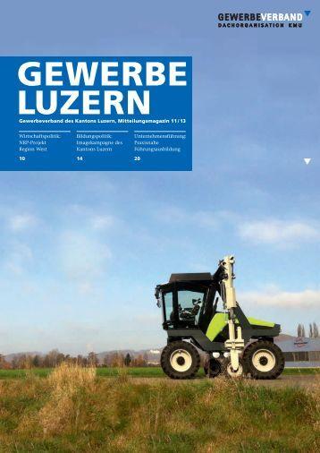 Gewerbeverband des Kantons Luzern, Mitteilungsmagazin 11 / 13