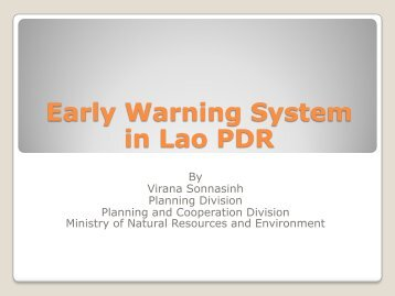 Early Warning System in Lao PDR - GFDRR