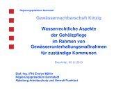 Wasserrechtliche Aspekte der Gehölzpflege im Rahmen von ... - GfG