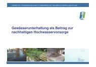 Vortrag 3 Gewässerunterhaltung als Beitrag zur nachhaltigen ... - GfG