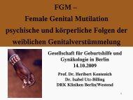 FGM – Female Genital Mutilation Weibliche Genitalverstümmelung