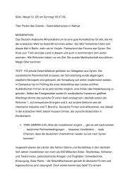 """Siller, Margit für """"B5 am Sonntag"""" 05.07.09 Titel: Perlen des ..."""